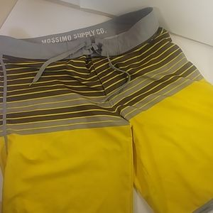 Mossimo Size 36 Supply Co Yellow & Gray Trunks
